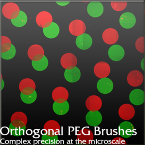 Orthogonal PEG Brushes